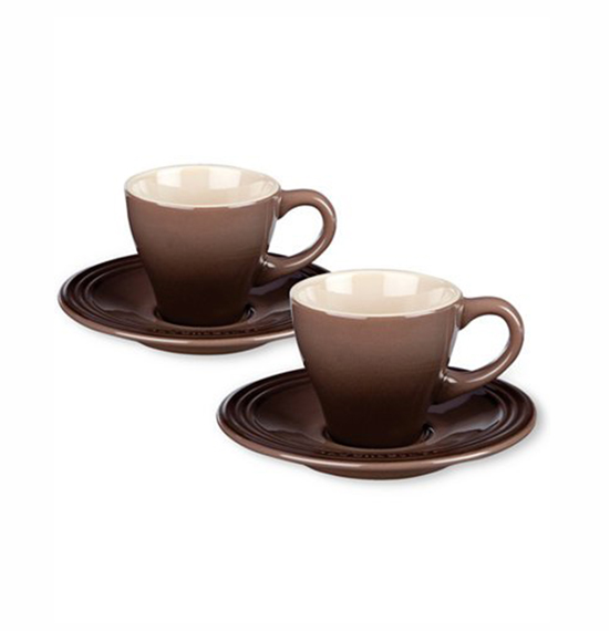 cups of espresso coffee